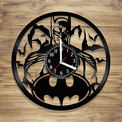Batman Vinyl Wall Clock Dark Knight Gotham Superhero Comics Perfect Art Decorate Home MODERN Style UNIQUE