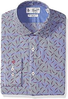 Men's Slim Fit Spread Collar Fashion Dress Shirt