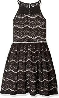 Amy Byer Girls' Big Fit and Flare Lace Dress