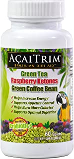 Sponsored Ad - AcaiTrim- Weight Loss Supplement- Green Tea Extract, Green Coffee Bean Extract, Raspberry Ketones, Acai, & ...