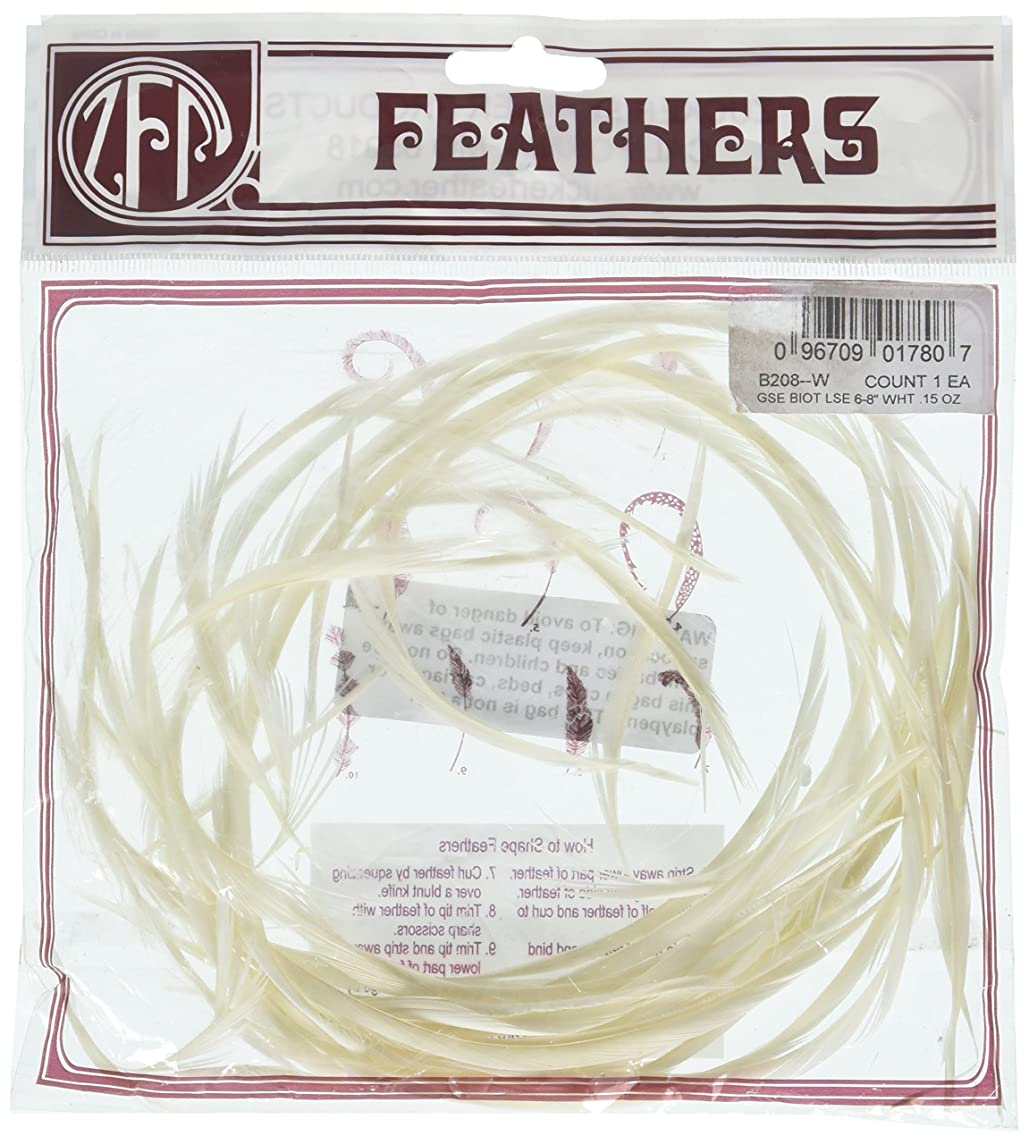 Zucker Feather (TM) - Loose Goose Biots Dyed - White