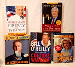 Lot of 5 Conservative Books ~ Gingrich Levin O'Reilly Glenn Beck Laura Ingraham, Winning the Future, LIberty and Tyranny, Culture Warrior, Power to the People, An Inconvenient Book