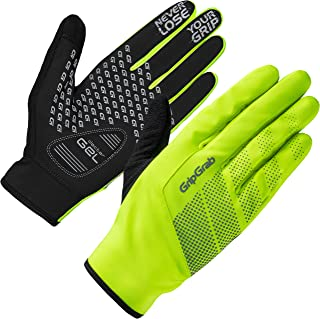 GripGrab Ride Windproof Midseason Padded Touchscreen Cycling Gloves Full Finger Breathable Bicycle Black Hiviz Winter