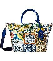 Dolce & Gabbana Kids - Tile Print Handbag