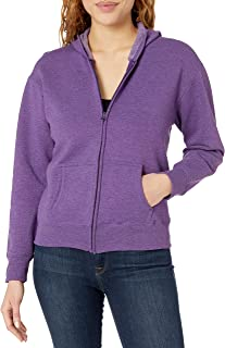 Hanes Womens O4637 Women's Fleece Full-Zip Hood Long Sleeve Fleece Jacket