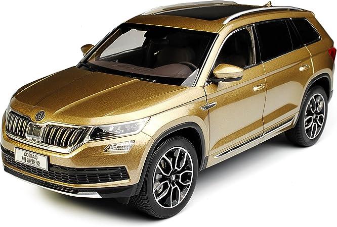 Paudi Skoda Kodiaq SUV Gold Braun Ab 2017 1//18 Modell Auto mit individiuellem Wunschkennzeichen