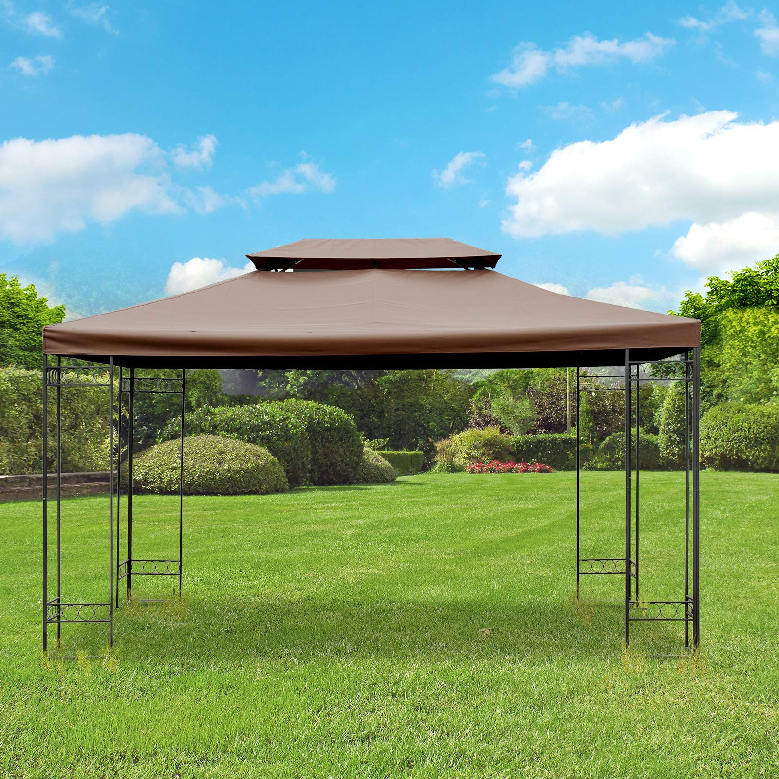 Outsunny Techo de reemplazo 3x4m para Carpa pabellon Color Marron ...