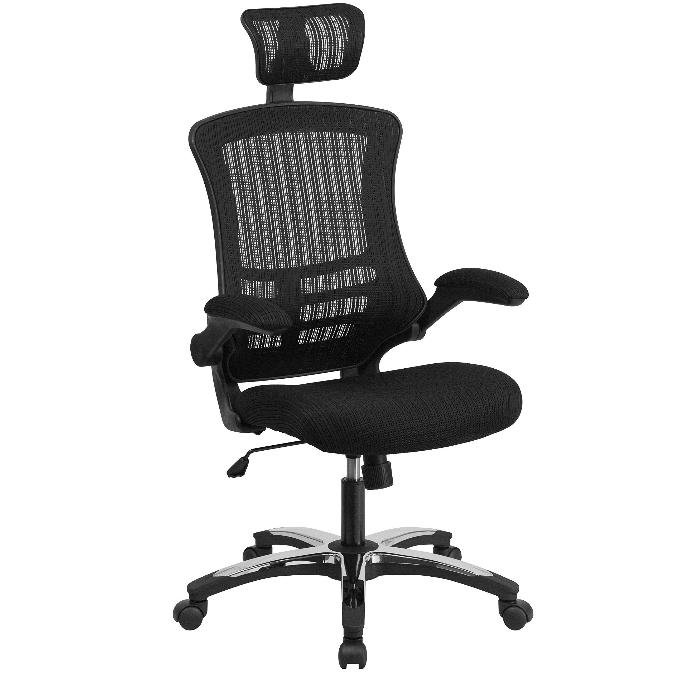 Flash Furniture Executive Swivel Flip Up