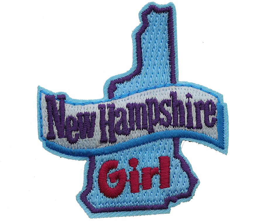 New Hampshire Girl 2 inch small Iron on Patch Ava2414 y9759378476