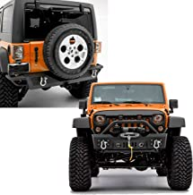 GSI Rock Crawler Stubby Front Bumper ,OE Fog Lights Hole and Winch Plate+Rear Bumper with 2