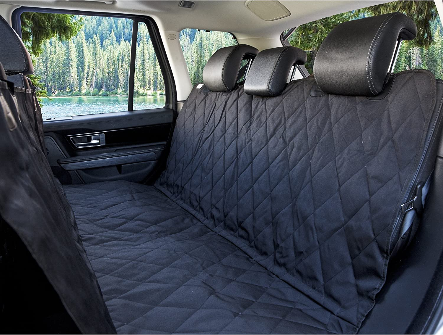 BarksBar Pet Car Seat Cover With Seat Anchors for Cars, Trucks, Suv's and Vehicles   WaterProof & NonSlip Backing