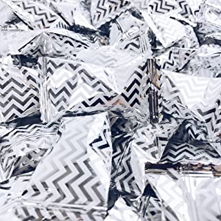 Chevron Silver Buttermints - 13 oz. Bag - Approximately 100 Individually Wrapped Mints