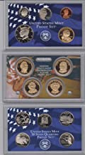 2008 Birth Year Coin Set (14) Proof Coins-4 Presidential Dollars, 1 Susan B. Anthony Dollar, Kennedy Half Dollar, 5- Washington 50 State Quarters, Dime, Nickel, And Cent - Encased in Plastic Display Cases With A Box Proof-