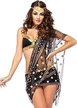LEG AVENUE(レッグアベニュー) Bollywood Darling ブラ サリー付きスカート ヘッドセット L ブラック /ゴールド 85218