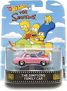 The Simpsons Family Car Hot Wheels Retro Diecast Car