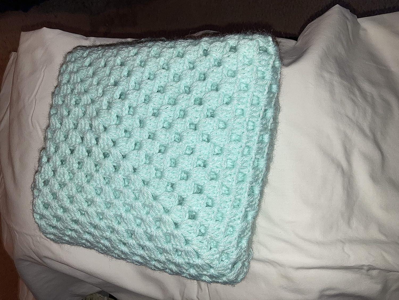 Amazon.com Hand Crocheted Baby Blankets Light Green 12