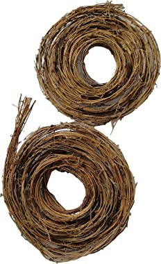 Xmas Arts& Crafts 15 Feet Grapevine Twig Garland (Two Pack)