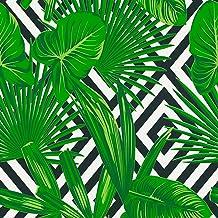 165286971 Feuilles et Fleurs Tropicales Vinyle Feuilles For/êt et Pluie Exotiques Muralo Papier Peint Perroquets