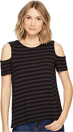 Michael Stars - Sophie Stripe Cold Shoulder Tee