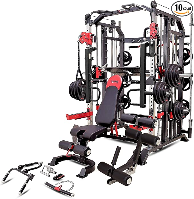 MiM USA Hercules 1001, Commercial Smith Machine, Functional Trainer, Power Cage, Leg Press, Dip Chin, Jammer Arms, Adj. Weight Bench, Leg Extension & Full Accessories
