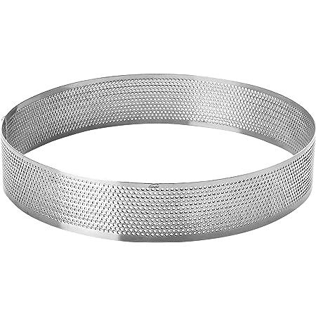 LACOR 68544 Cercle Rond perforé d 24 h 2 cm, Acier Inoxydable, Gris, 24 cm