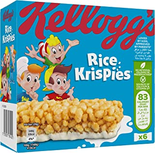 Kellogg's Rice Krispies Cereal Milk Bar, 6 x 20 gm