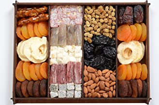 Snacks and Dried Fruit Wooden Gift Box Great For Birthday, Christmas, Family Days & Movie Night Or As A Business Gift Heal...