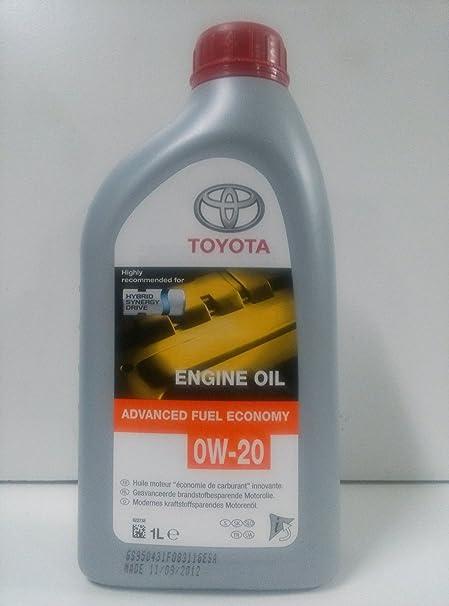 Toyota Sae 0w 20 Afe Engine Oil 1 Litre Auto