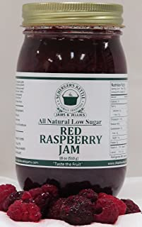 Red Raspberry Jam, All Natural/Low Sugar, 18 oz