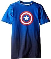 Under Armour Kids - Marvel Base Layer Short Sleeve (Big Kids)