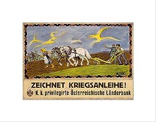 Wee Blue Coo War WWI Austria Hungary Loan Fund Plow Plough Farm Wall Art Print