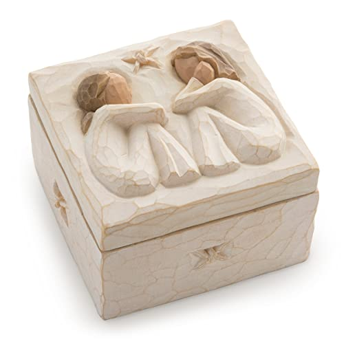 Willow Tree Hand Painted Sculpted Keepsake Box Friendship