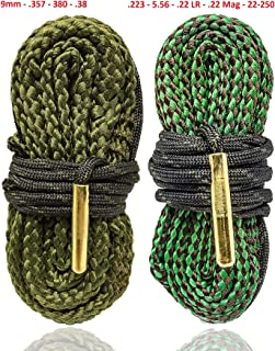 Big Country Wholesale Rifle and Pistol Cleaning Combo Pack Bore Snakes for AR15 and 9MM Guns - Also Fits .223 5.56 .38 .357 Caliber Weapons - from Cobra Bore Snakes