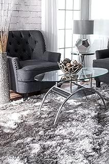 nuLOOM Latonia Silken Shag Rug, 6' x 9', Silver