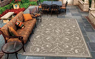 Couristan Recife Veranda Indoor/Outdoor Area Rug Champagne/Taupe, 5'3