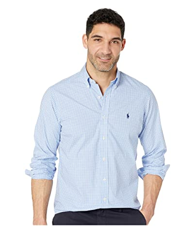 Polo Ralph Lauren Classic Fit Poplin Sport Shirt (Blue/White Check) Men