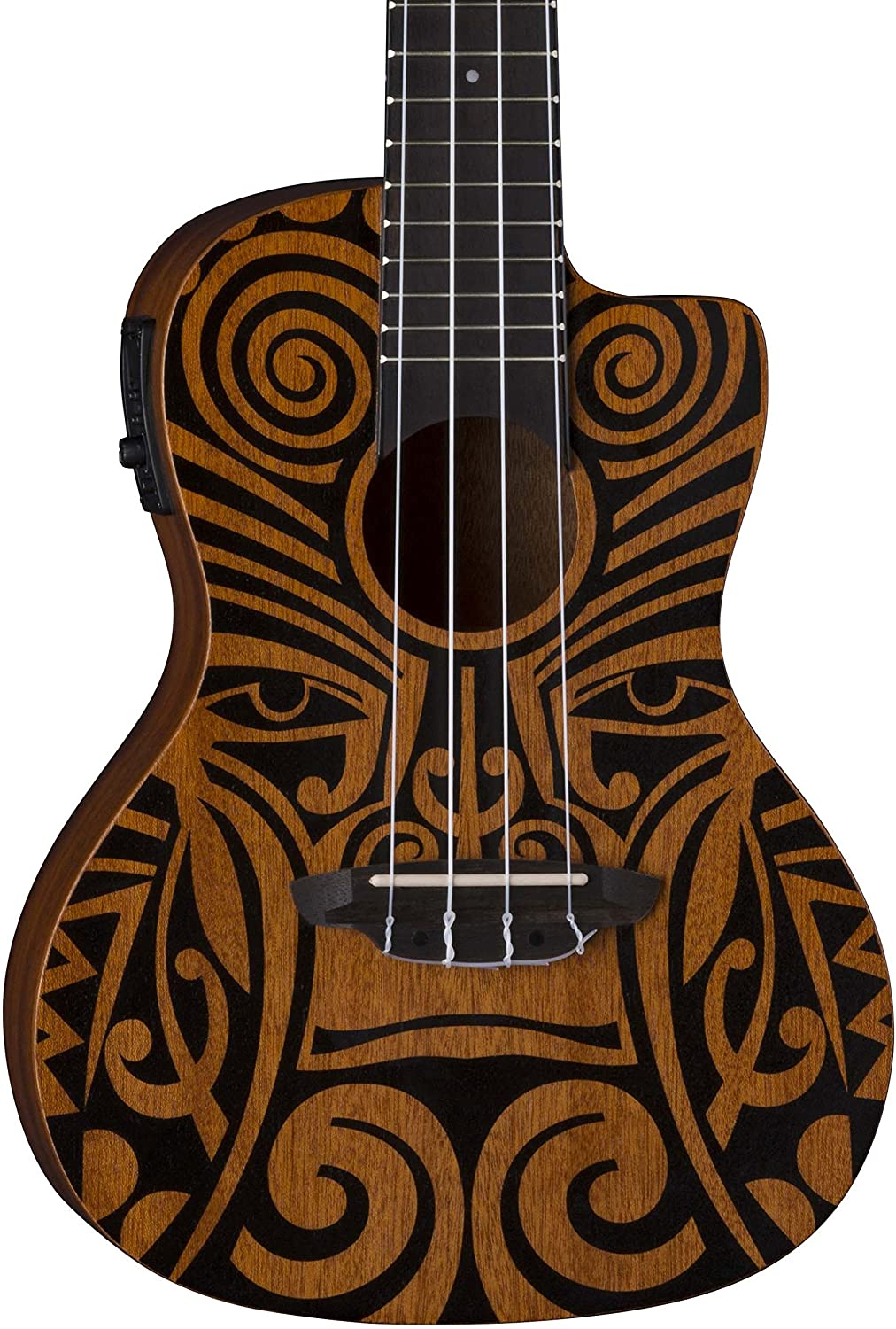 Luna Tribal sale Concert Cutaway Acoustic with Ukulele NEW before selling Pream Electric