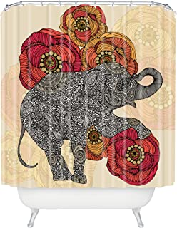 Deny Designs Valentina Ramos Rosebud Shower Curtain Extra Long, 69 x 90