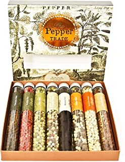 The Pepper Trade 8-pack Peppercorn Collection by Eat.Art - Use in Grinders - A BEAUTIFUL GIFT - (Housewarming/Hostess Item...