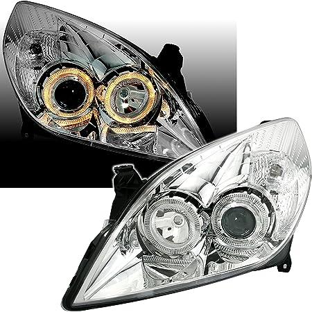 Ad Tuning Gmbh Co Kg 960381 Angel Eyes Fernscheinwerfer Set Klarglas Chrom Auto