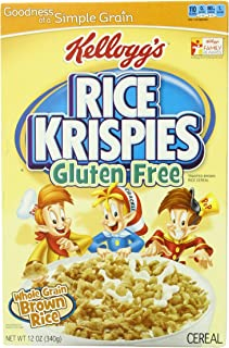 Kellogg's Rice Krispies Gluten Free Cereal, Whole Grain Brown Rice, 12-Ounce Boxes (Pack of 4) (Discontinued By Manufacturer)