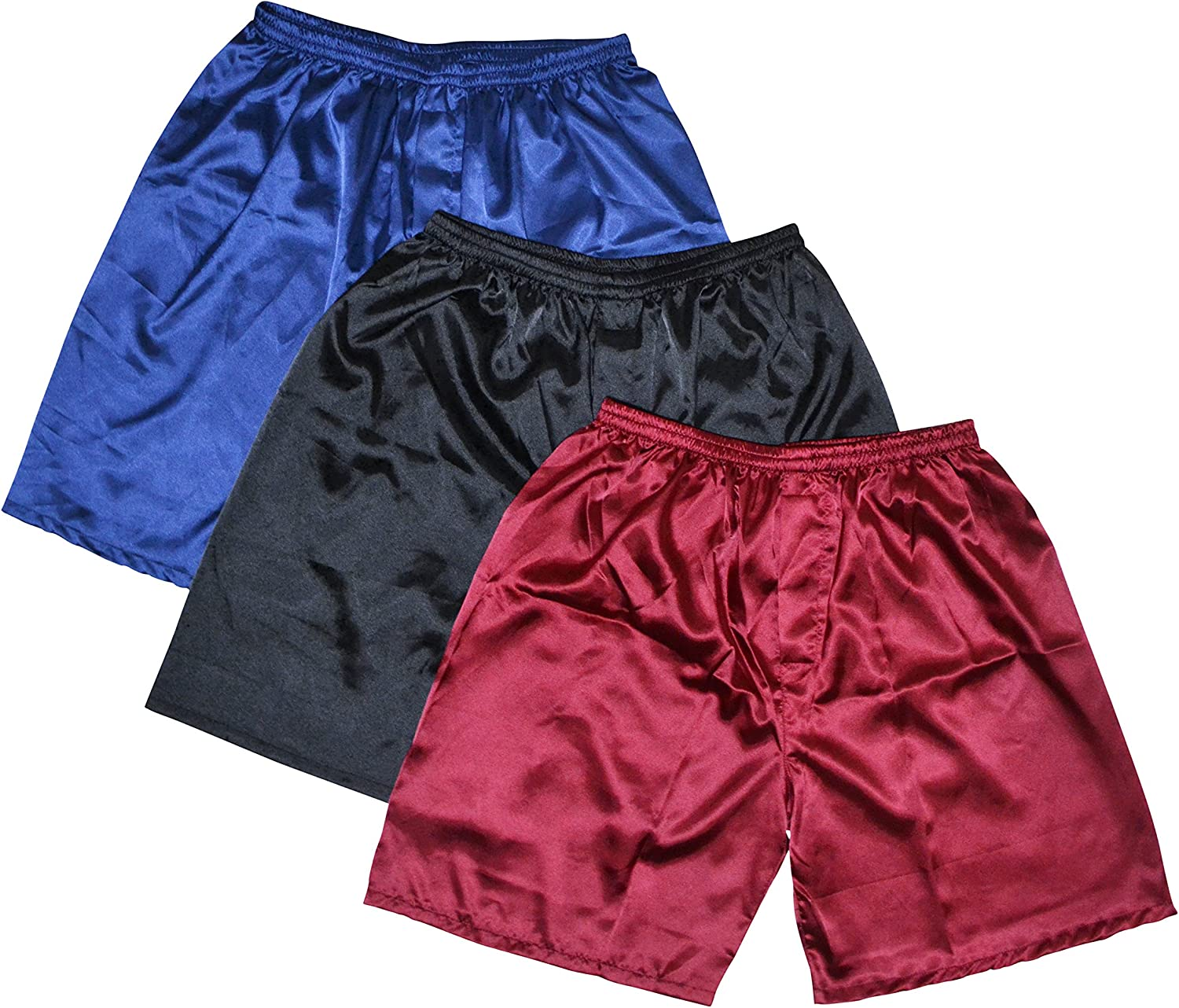 Tony Candice Men's Satin Boxers Shorts High order Underwear New Orleans Mall Pack Combo