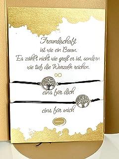 2x XXL Freundschaft beste Freundin Geschenk Armband Freundschaftsarmband Makrame