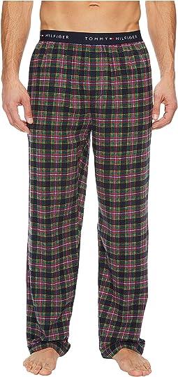 Tommy Hilfiger - Logo Flannel Waistband Pajama Pants