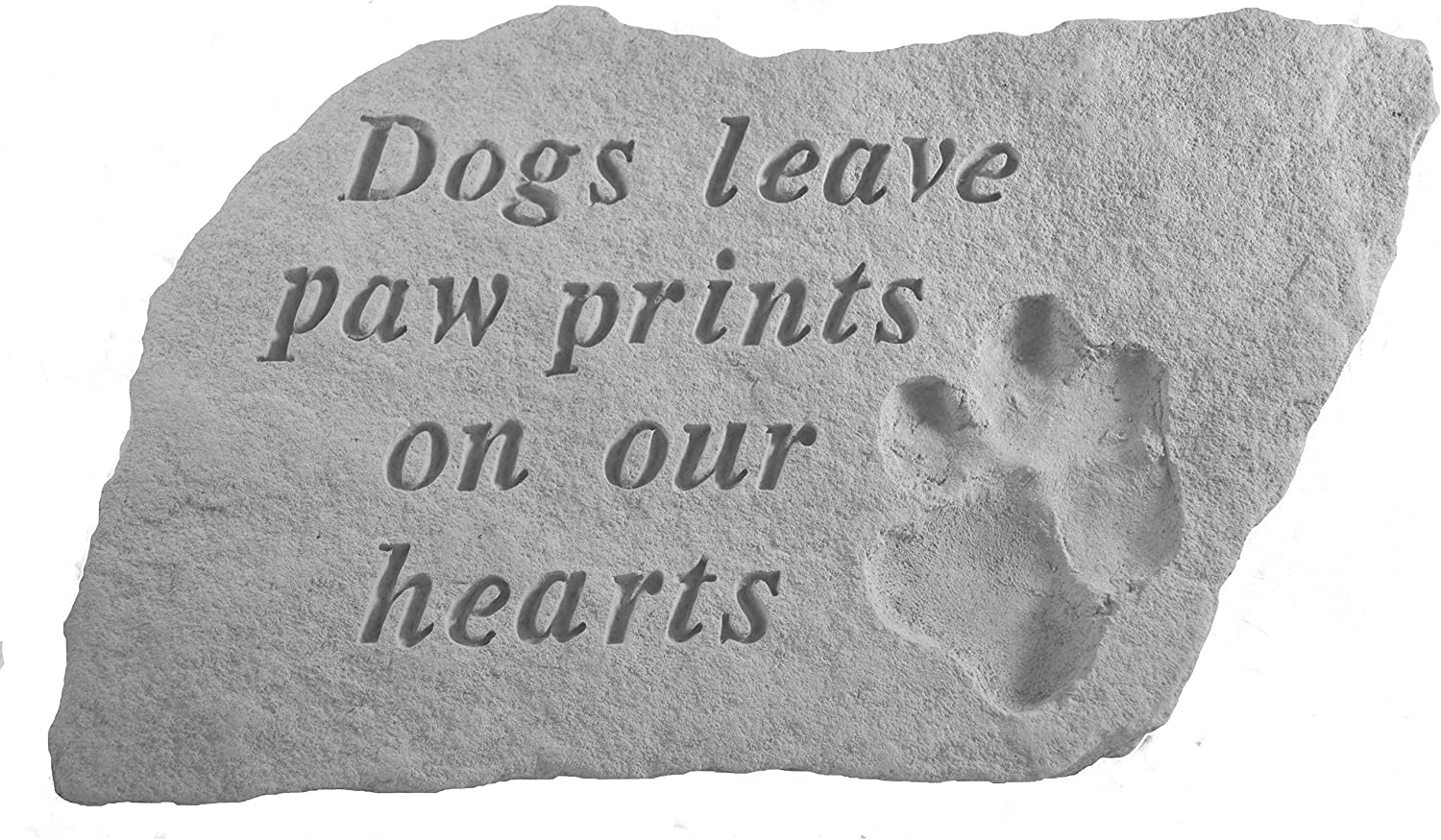 National uniform free shipping Kay Berry Inc Handmade Dogs Accent depot Stone Leave Paw Prints