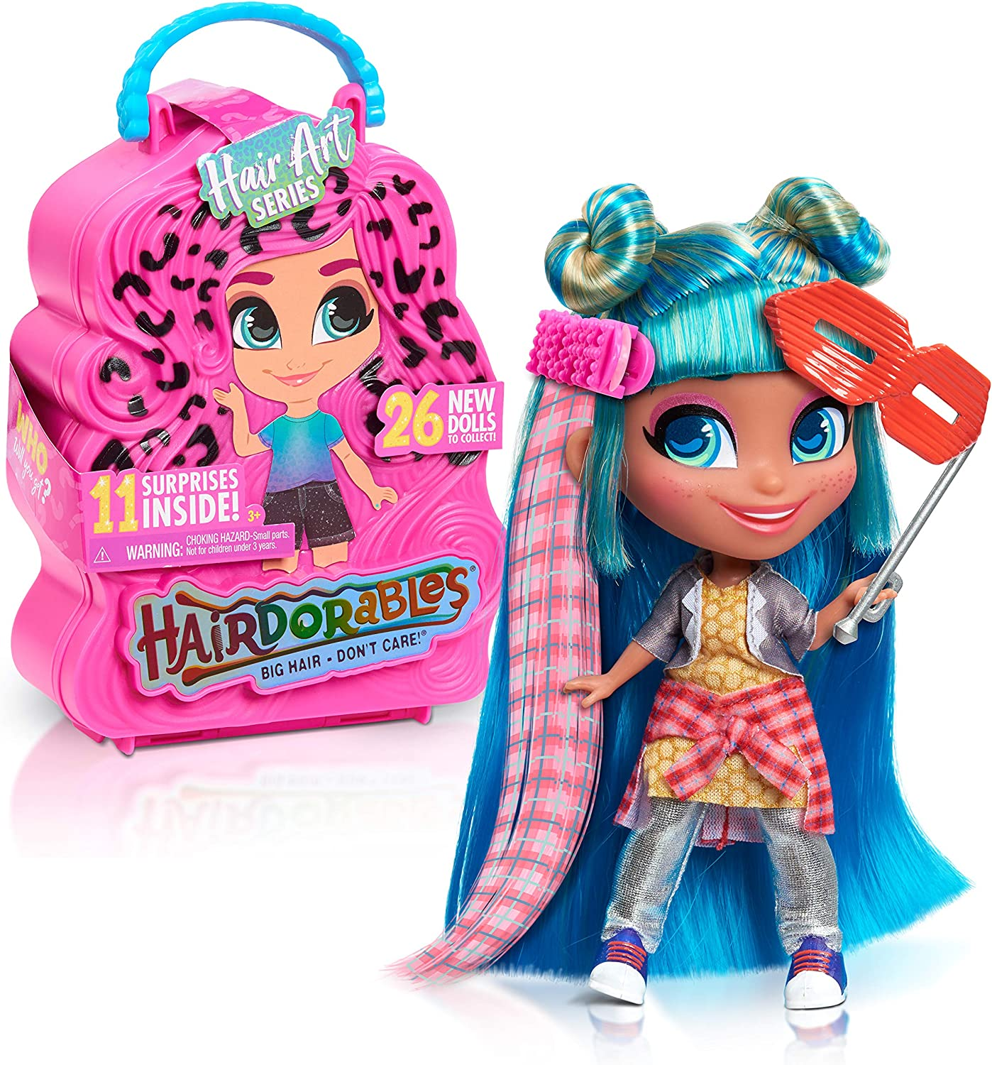Hairdorables Collectible Doll Hair Art Series 5, styles and case colors may...