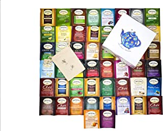Twinings Tea Bags Sampler Assortment Variety Pack - 50 Count with Gift Box and Travel Pouch - Tea Lover's Paradise