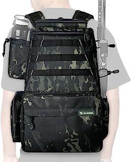 کوله پشتی لوازم ماهیگیری Rodeel 2 نگهدارنده میله های ماهیگیری با 4 جعبه مقابله ، ذخیره سازی بزرگ ، مقاوم در برابر آب