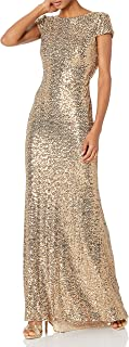 Women's Cowl Back Sequin Classic Gown
