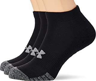 Under Armour Unisex Heatgear Locut 3 Socks, Black (Black/Steel), Large